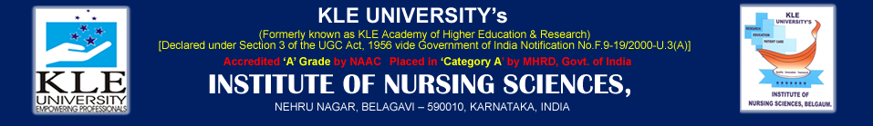 K.L.E UNIVERSITY'S Institute of Nursing Sciences
